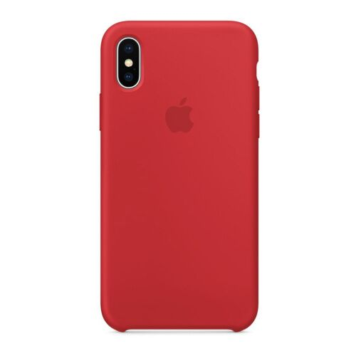 Как выглядит Чехол Apple Silicone Case для iPhone XS (PRODUCT)RED (MRWC2)
