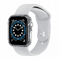Как выглядит Apple Watch Series 6 Edition 44mm 14-Karat White Gold Case with White  Sport Band