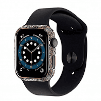 Как выглядит Apple Watch Series 6 Edition 44mm 14-Karat White Gold with Black Case with White Sport Band